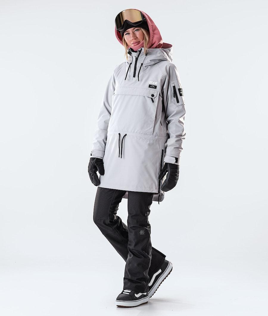 Dope Annok Long Giacca da Snowboard Donna Light Grey