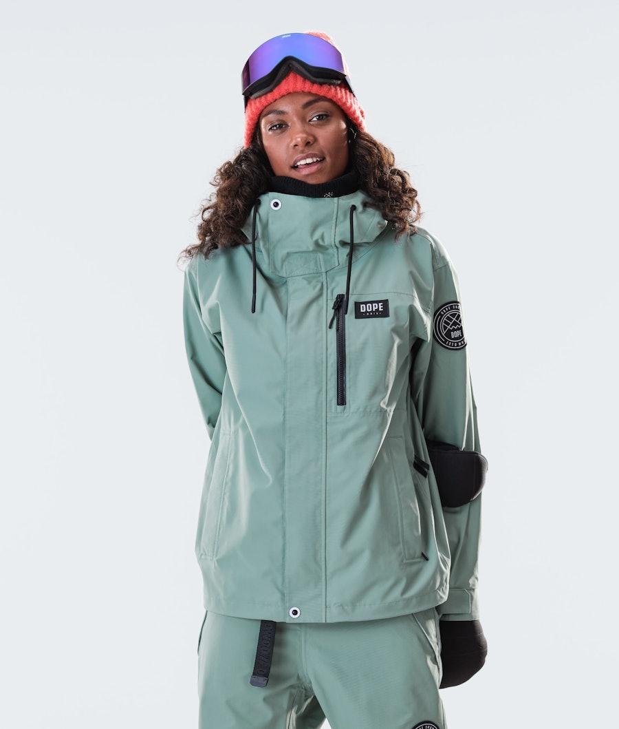 Dope Blizzard FZ W Ski jas Faded Green