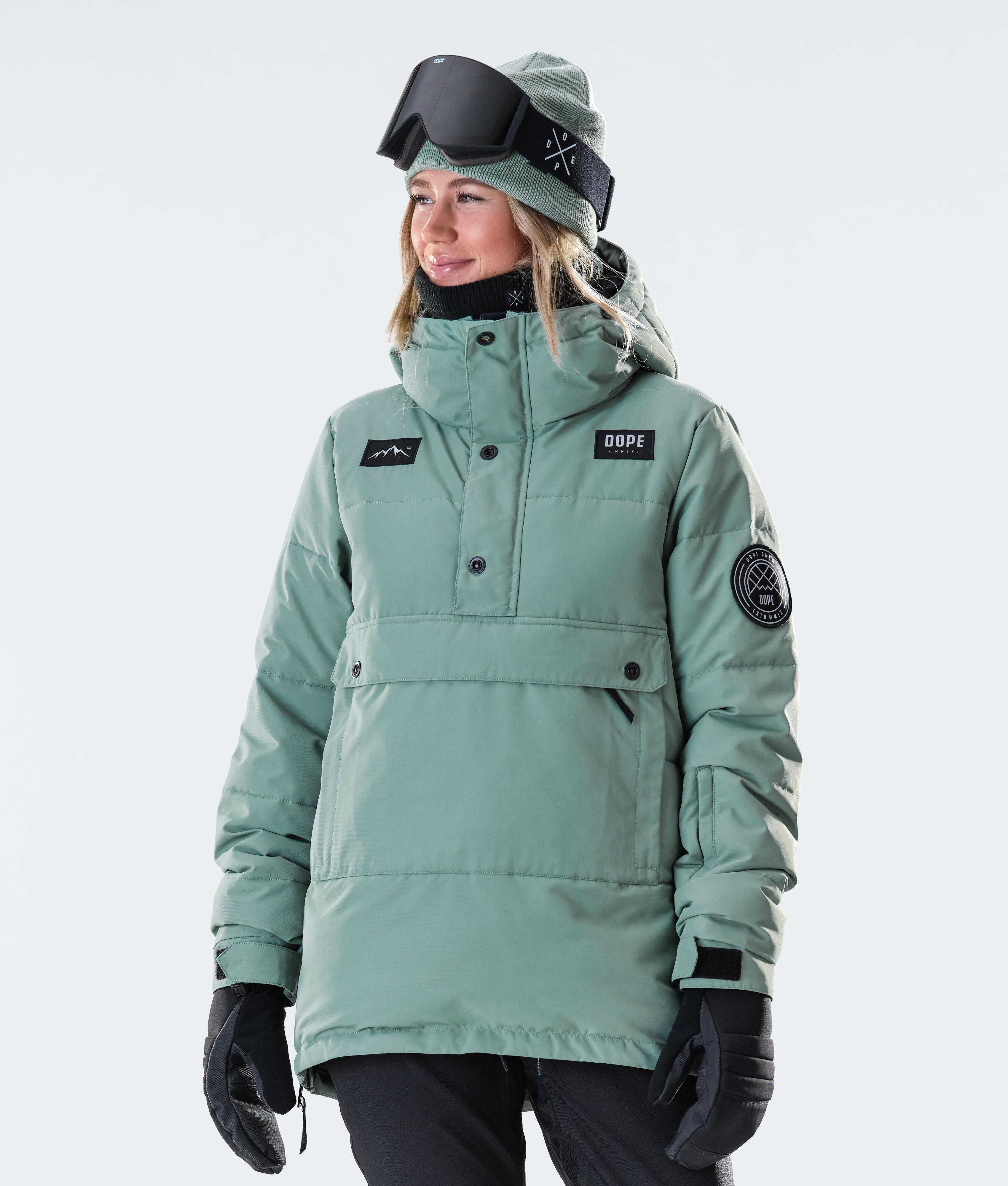 Dope Blizzard PO Snowboardjakke Faded Green Ridestore.no