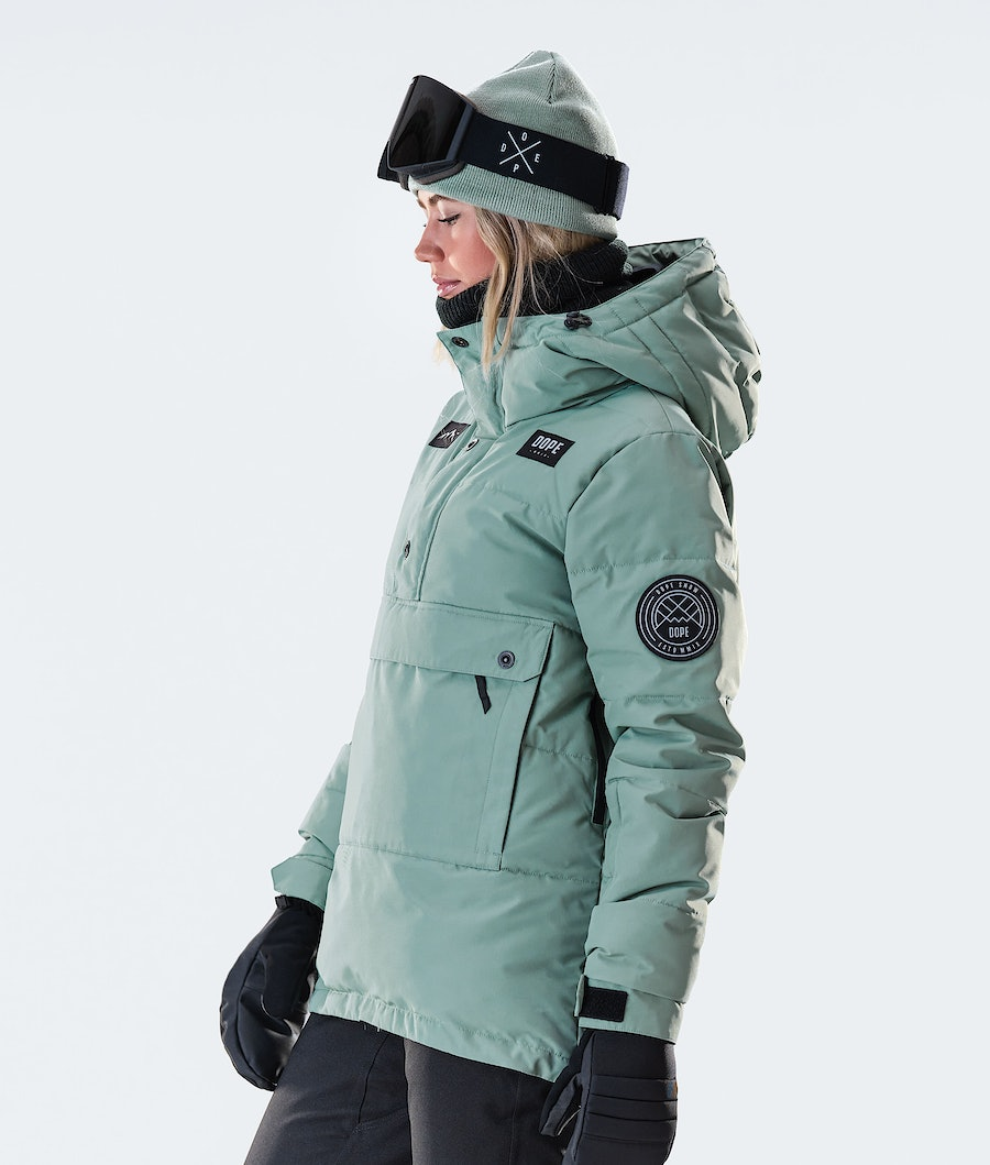 Dope Puffer W Women's Snowboard Jacket Faded Green