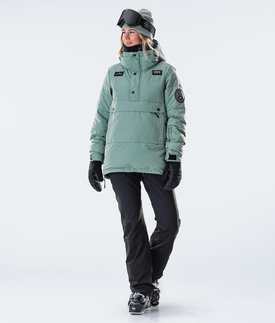 Dope Puffer W Women's Ski Jacket Faded Green