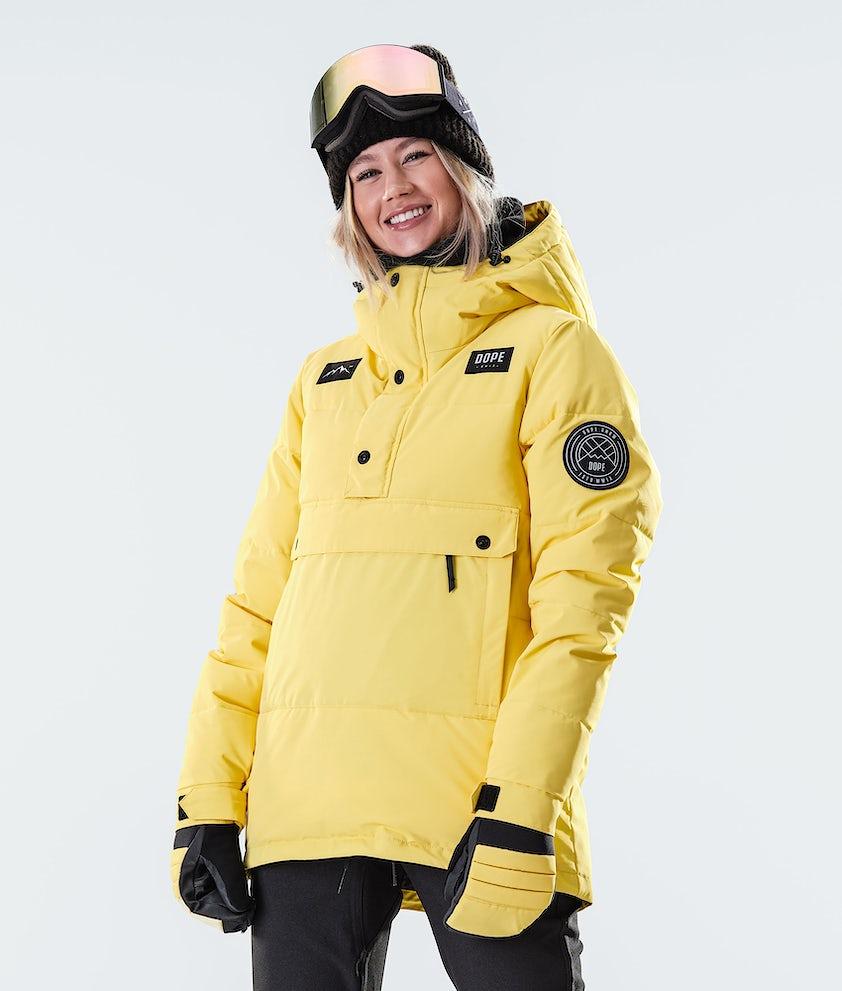 Dope Puffer W Ski Jacket Faded Yellow
