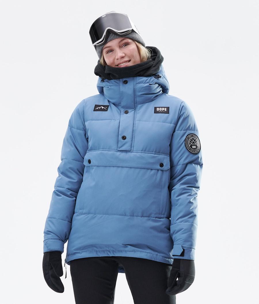Dope Puffer W Snowboard Jacket Blue Steel