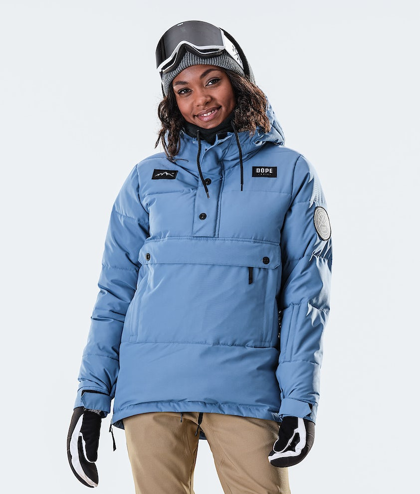 Dope Puffer W Ski Jacket Blue Steel