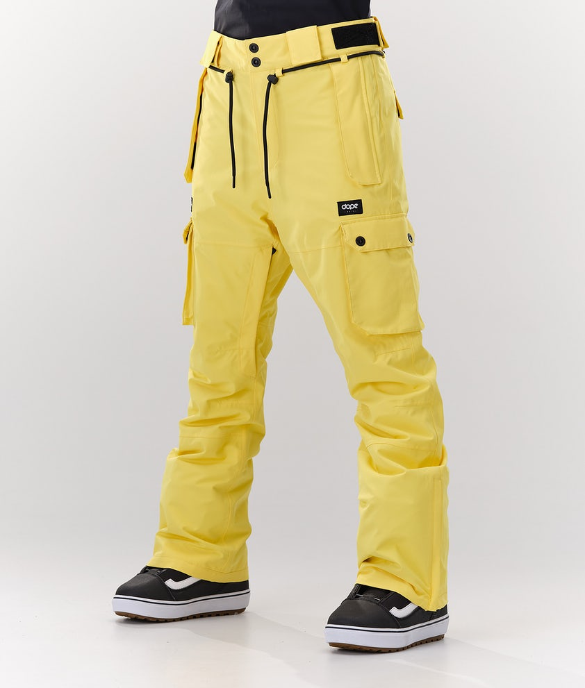 Dope Iconic W Snowboardbukse Faded Yellow