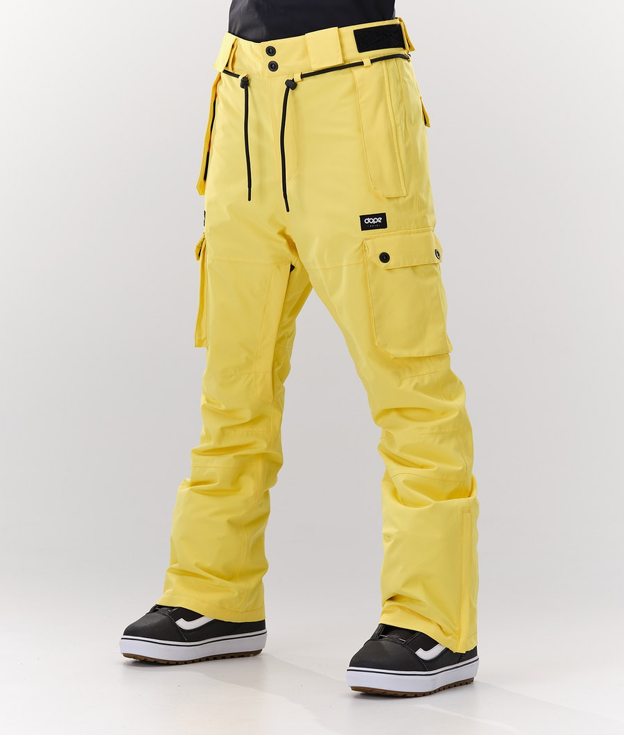 Dope Iconic W Pantaloni da Snowboard Faded Yellow