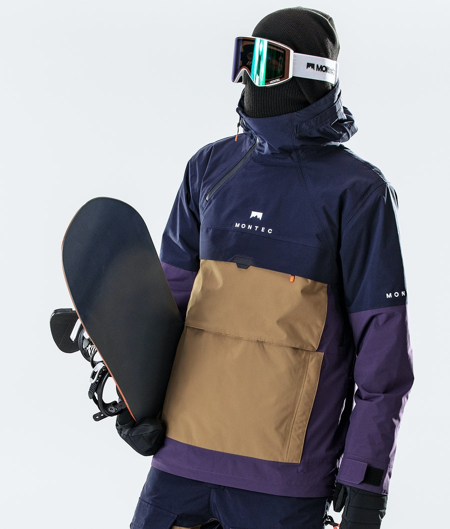 Montec Dune Snowboard Jacket Marine/Gold/Purple
