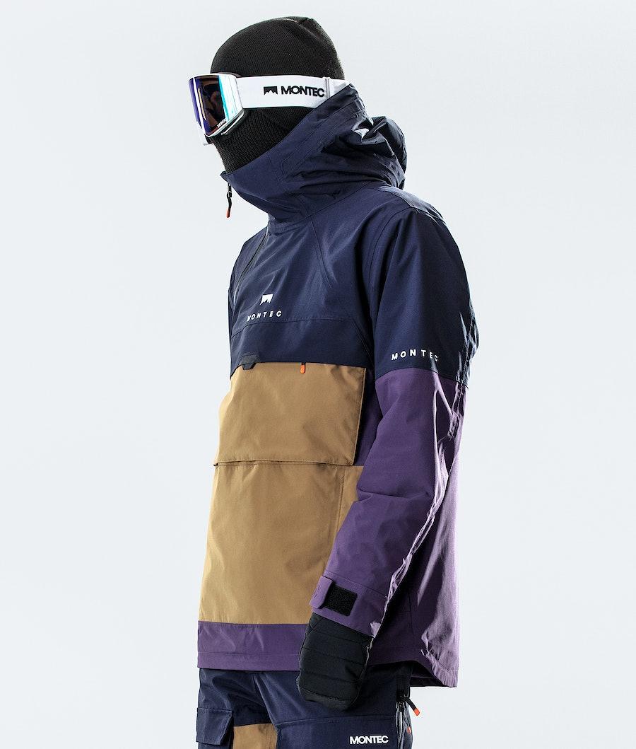 Montec Dune Snowboard jas Marine/Gold/Purple