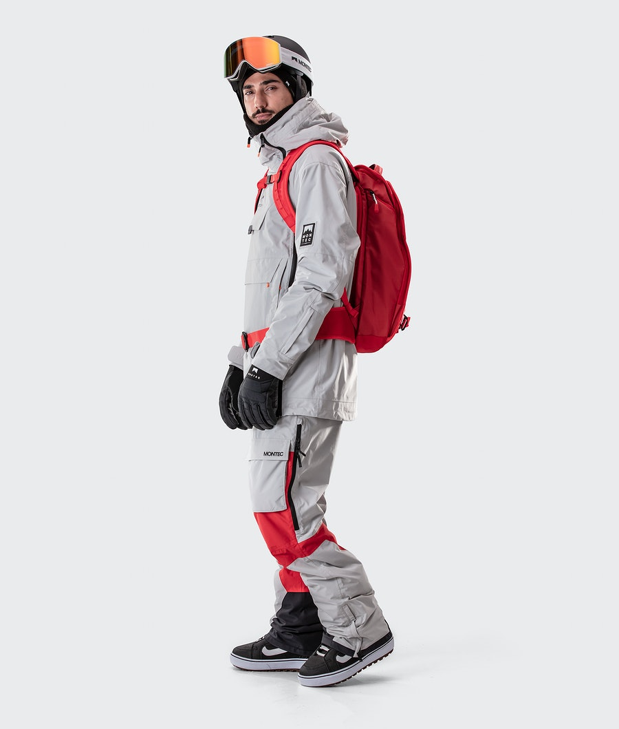 Montec Doom Snowboard Jacket Light Grey