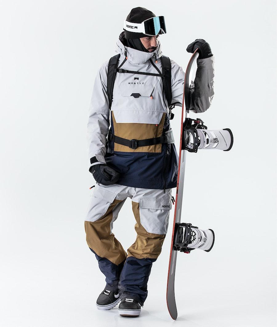 Montec Doom Snowboard Jacket Light Grey/Gold/Marine