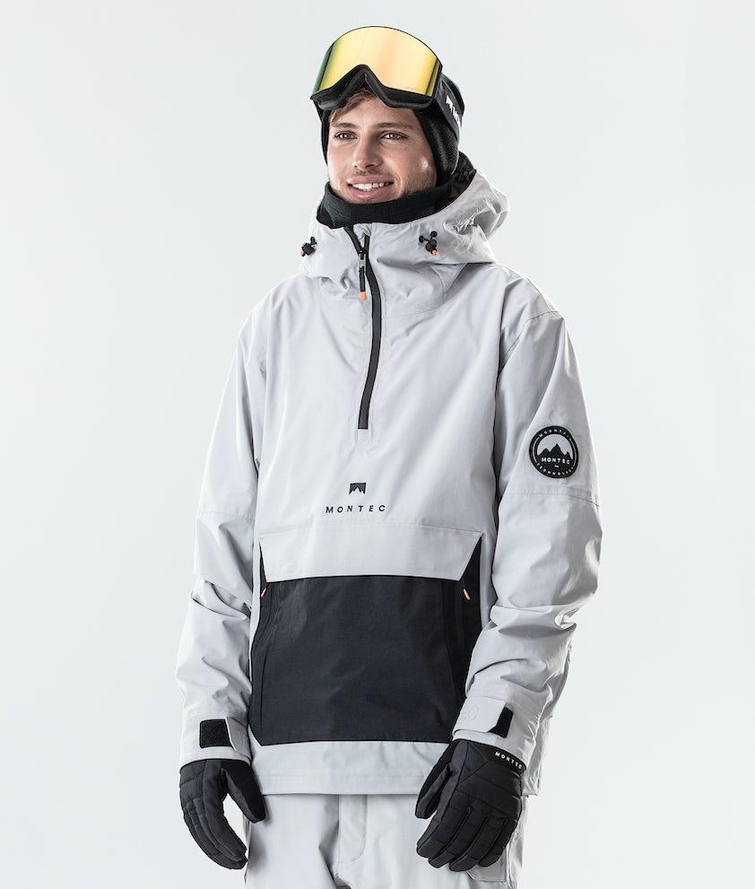 Montec Typhoon Snowboardjakke Light Grey/Black