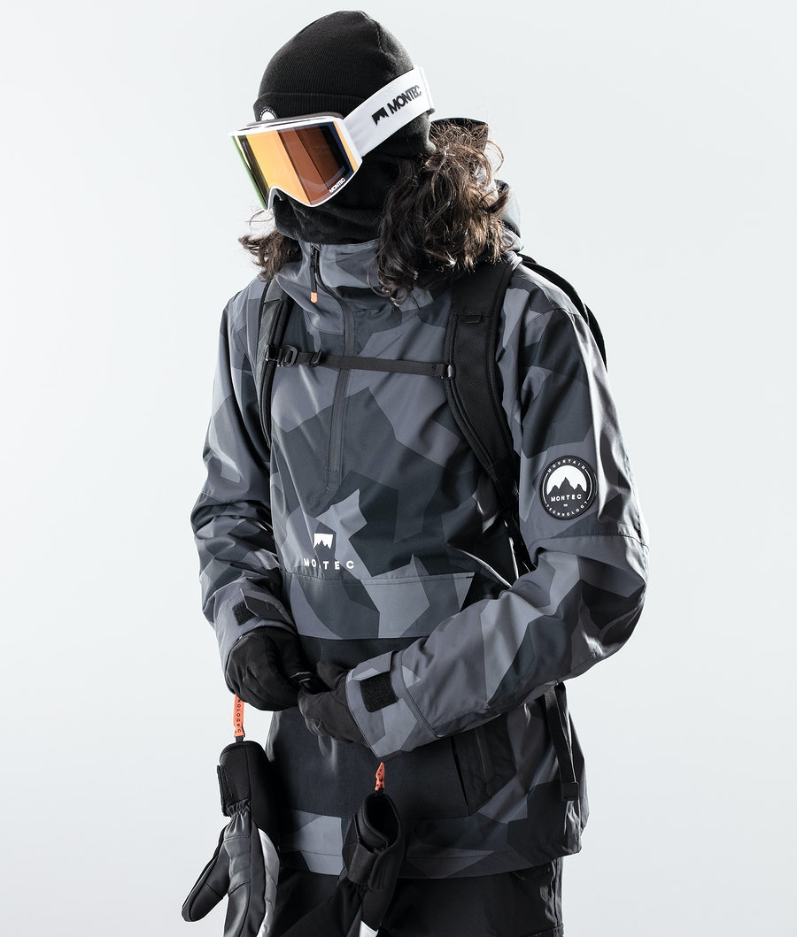 Montec Typhoon Skijakke Night Camo/Black