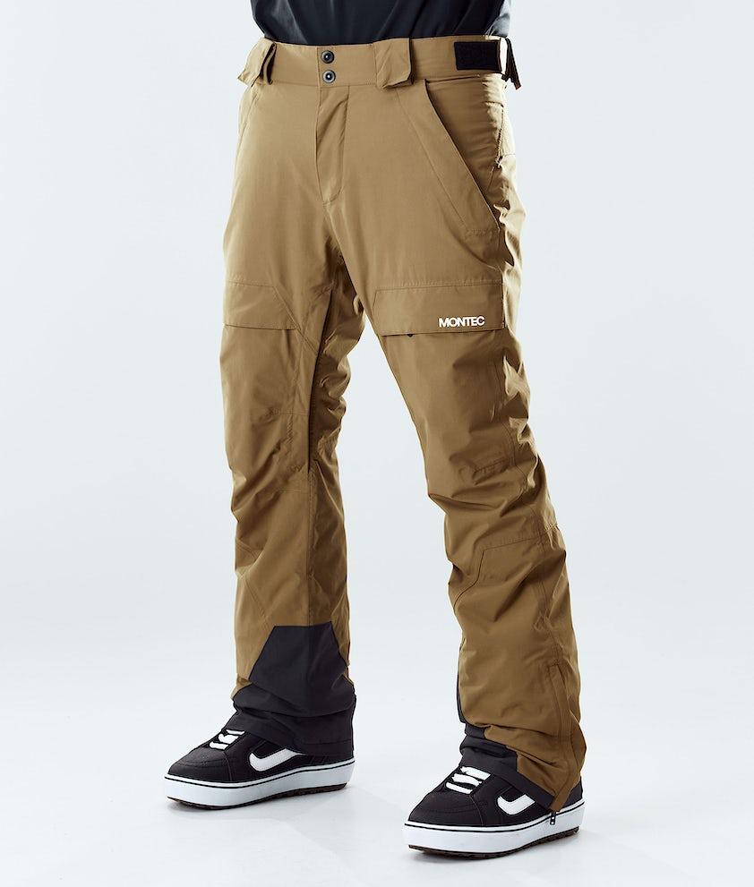Montec Dune Snowboard Pants Gold
