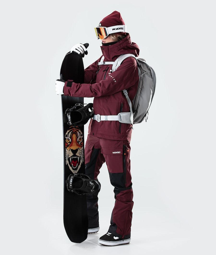 Montec Fawk W Veste de Snowboard Femme Burgundy
