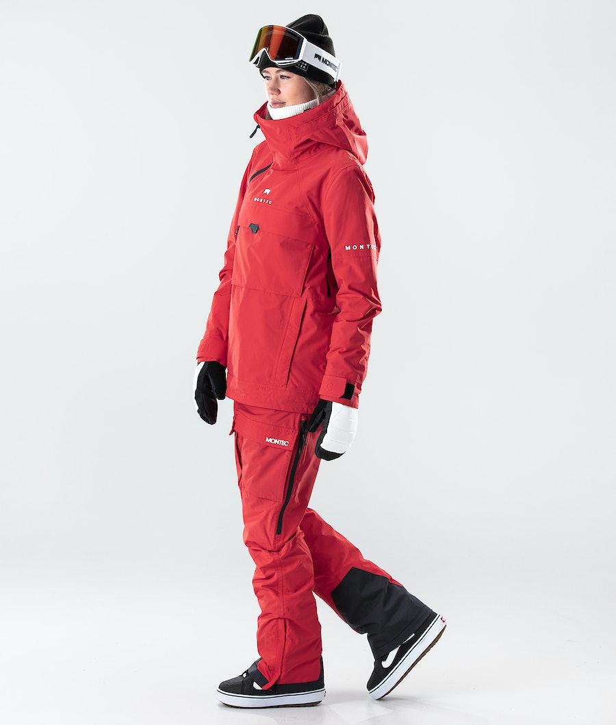 Montec Dune W Veste de Snowboard Femme Red