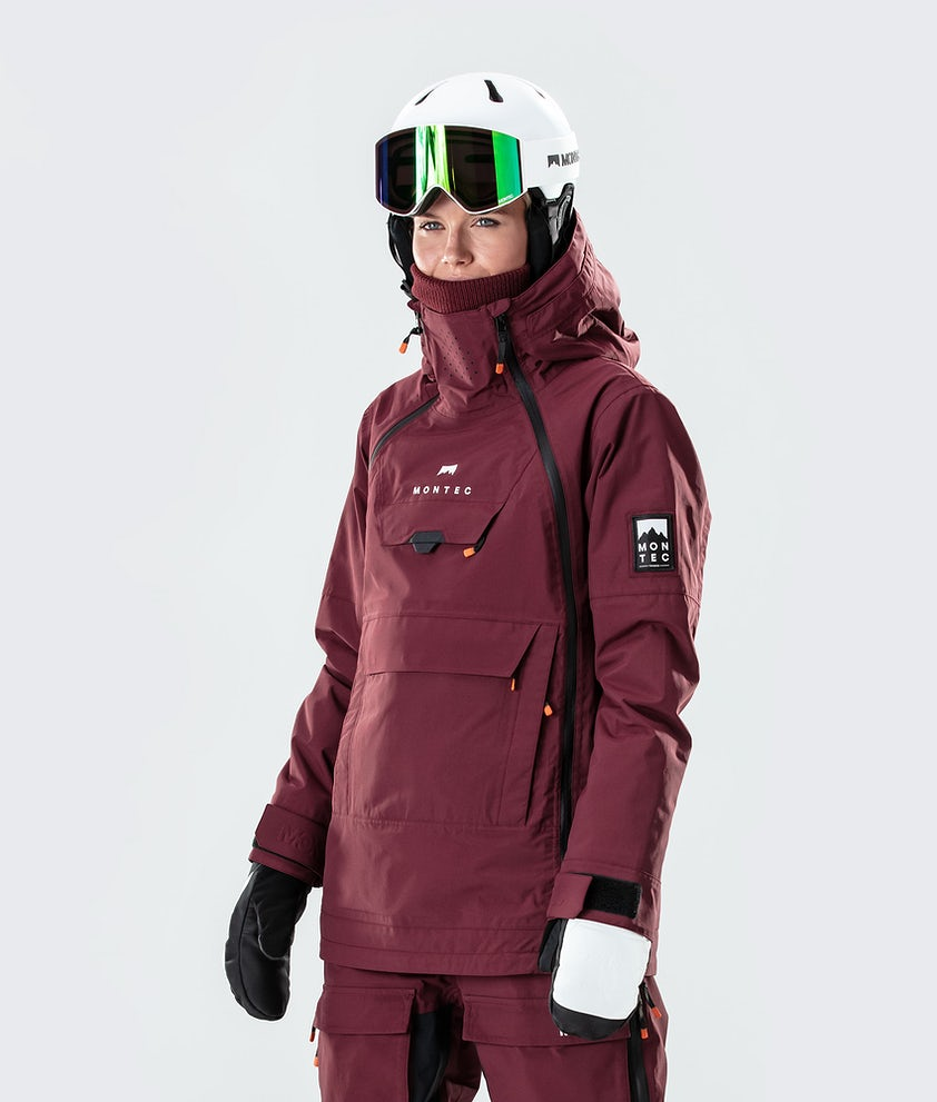 Montec Doom W Snowboard Jacket Burgundy