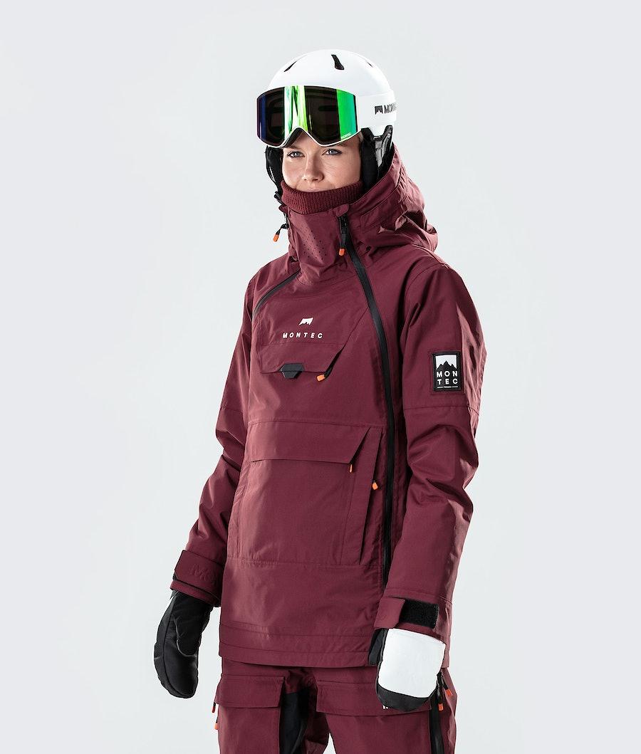 Montec Doom W Snowboardjakke Burgundy