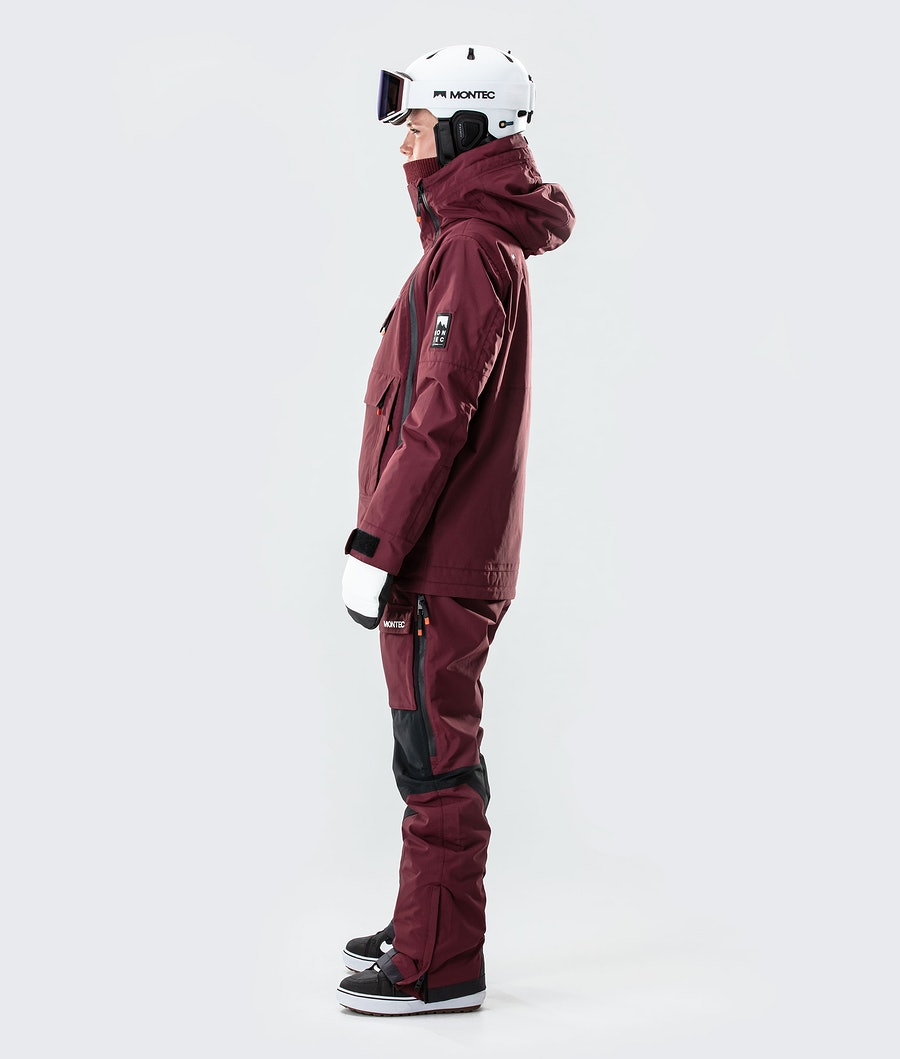 Montec Doom W Veste de Snowboard Femme Burgundy