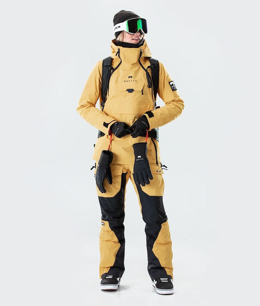Montec Doom W Veste de Snowboard Femme Yellow