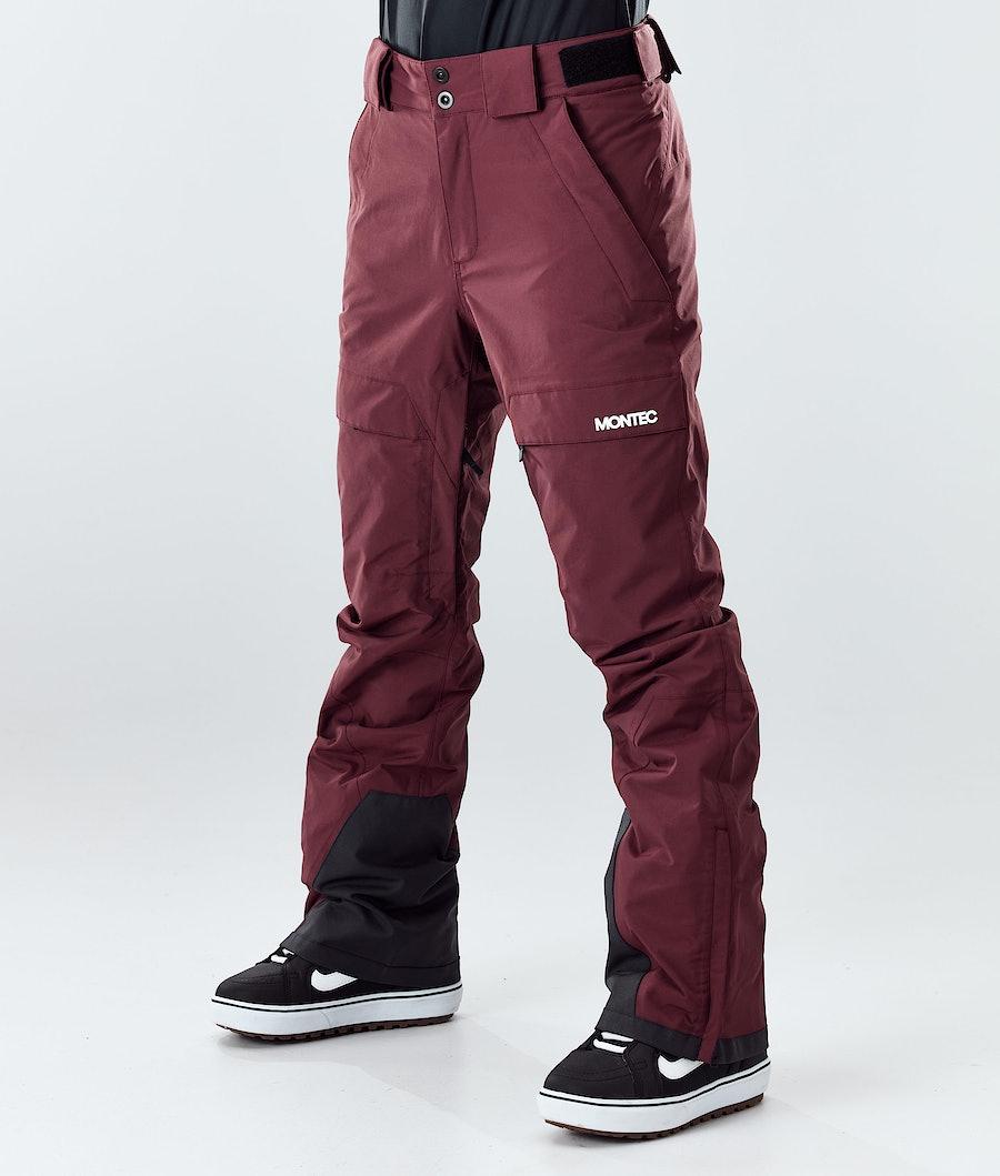 Montec Dune W Snowboard Pants Burgundy