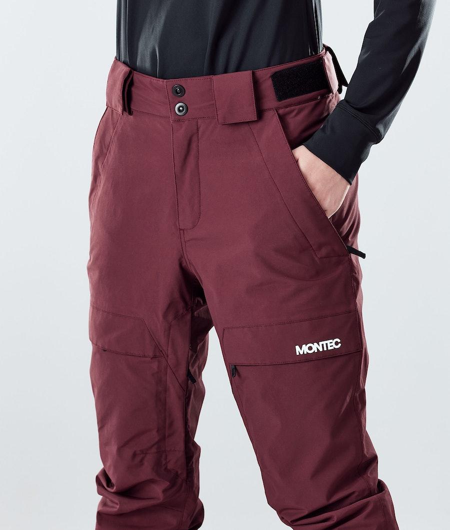 Montec Dune W Women's Snowboard Pants Burgundy