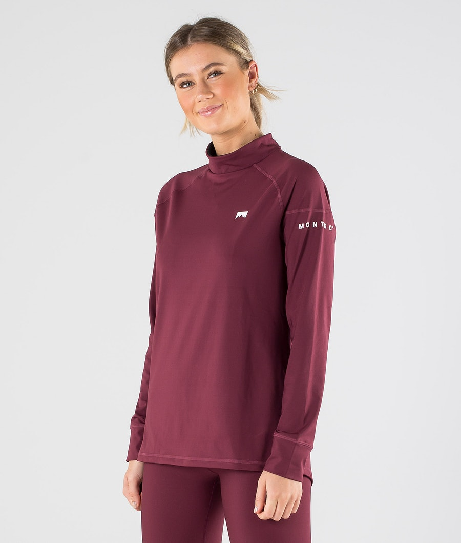 Montec Zulu W Base Layer Top Burgundy