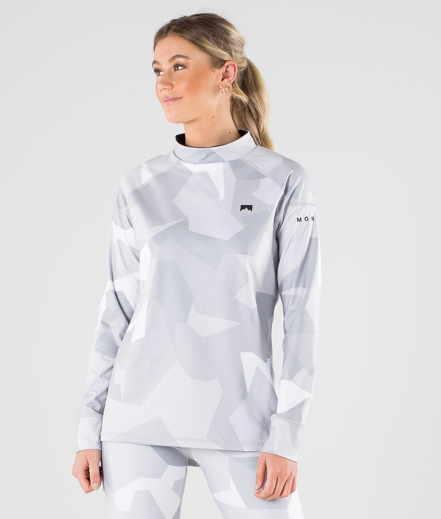 Montec Zulu W Base Layer Top Snow Camo