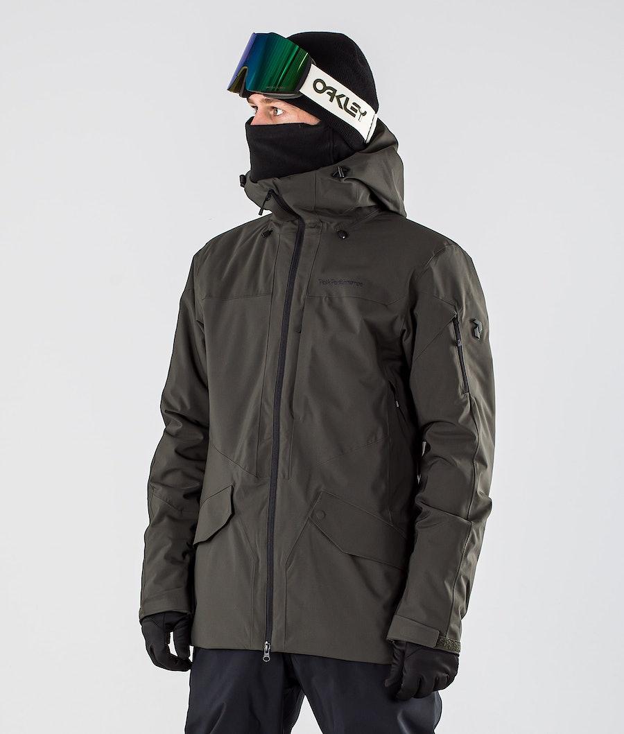 Peak Performance Maroon Long Snowboard Jacket Coniferous Green