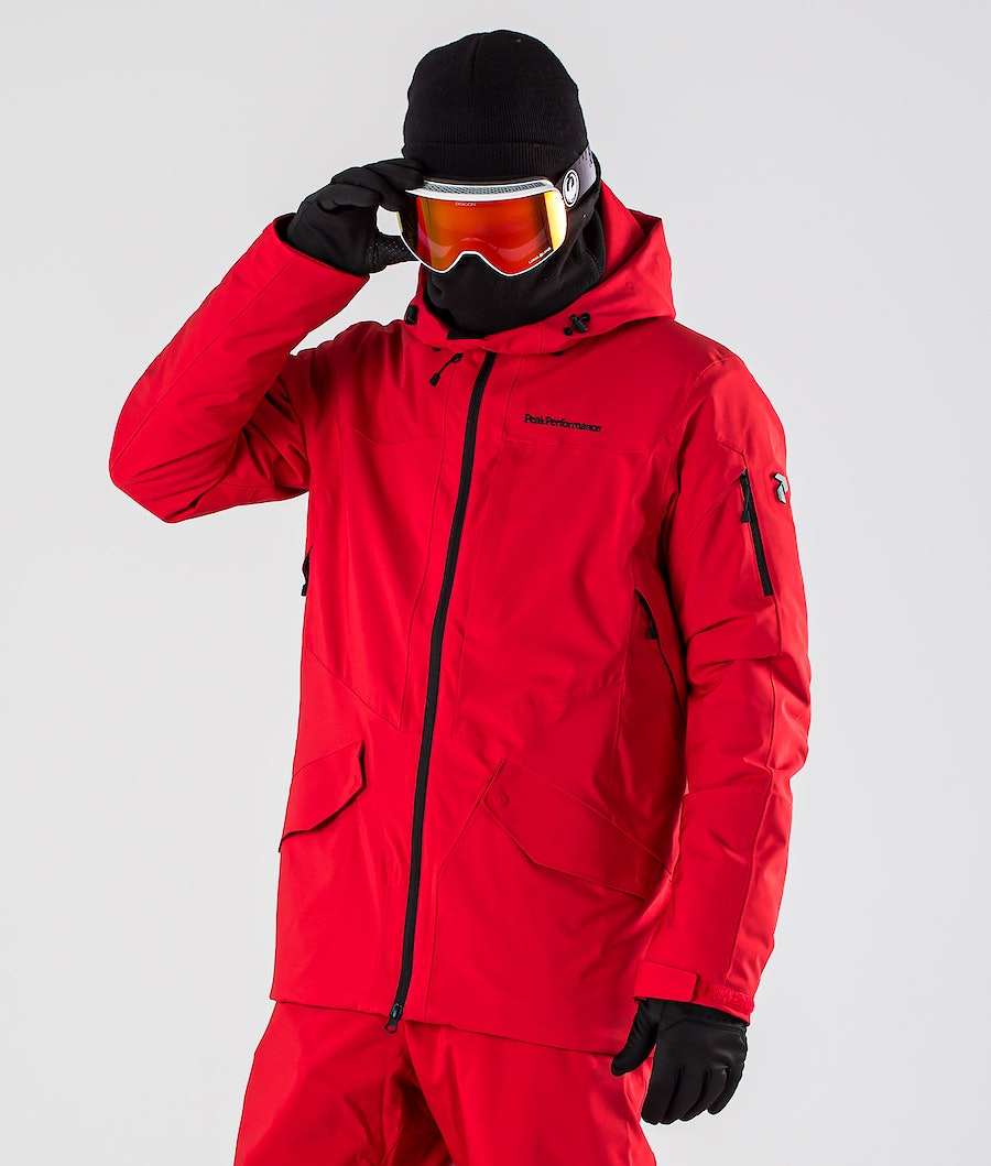 Peak Performance Maroon Long Snowboard Jacket The Alpine