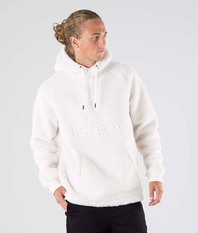 Peak Performance Original Pile Zip Hood Off White