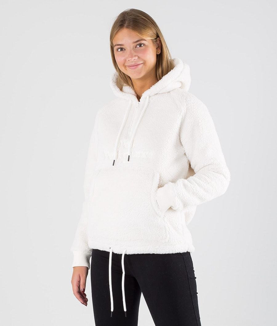 Peak Performance Original Pile Half Zip Fleece Hood Off White