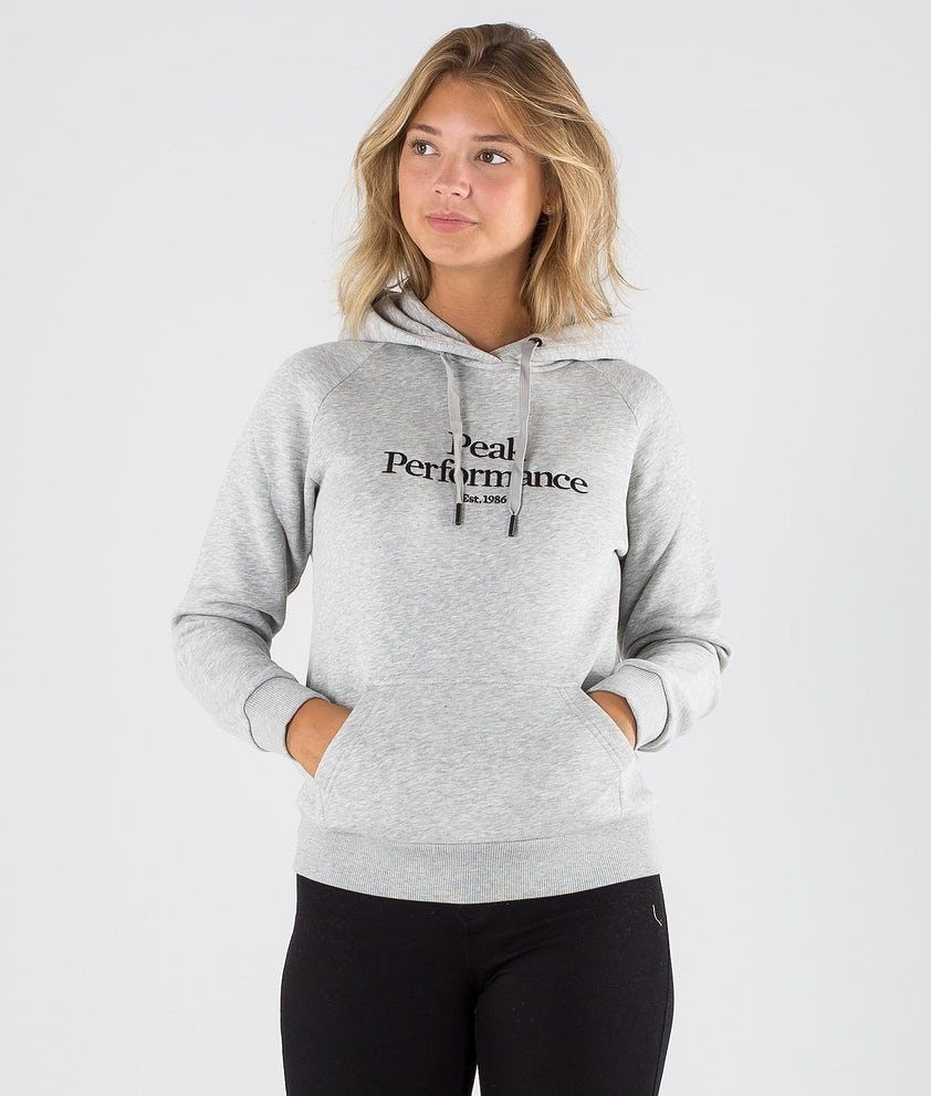 Peak Performance Original Hood Med Grey Mel
