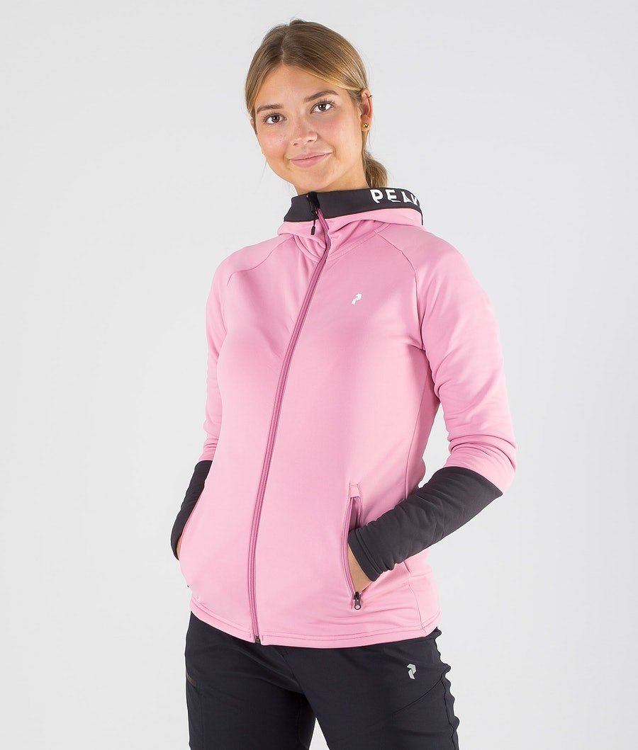 Peak Performance Rider Zip Felpa con Cappuccio Frosty Rose
