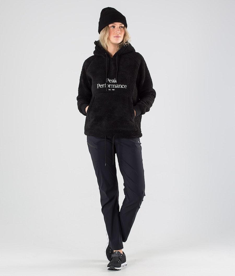 Peak Performance Original Pile Half Zip Women's Fleece Hood Black