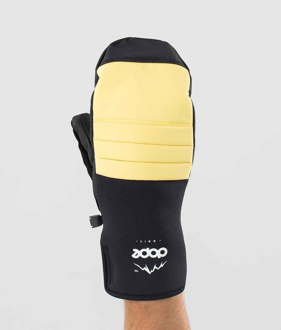Dope Ace Mitt Hanskat Faded Yellow