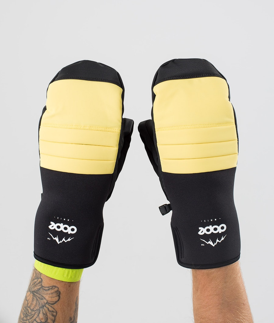 Dope Ace Mitt Snow Mittens Faded Yellow