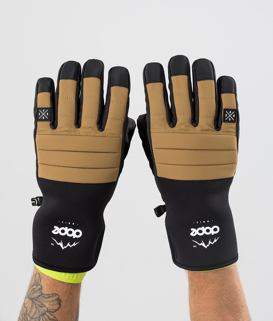 Dope Ace Glove Ski Gloves Gold