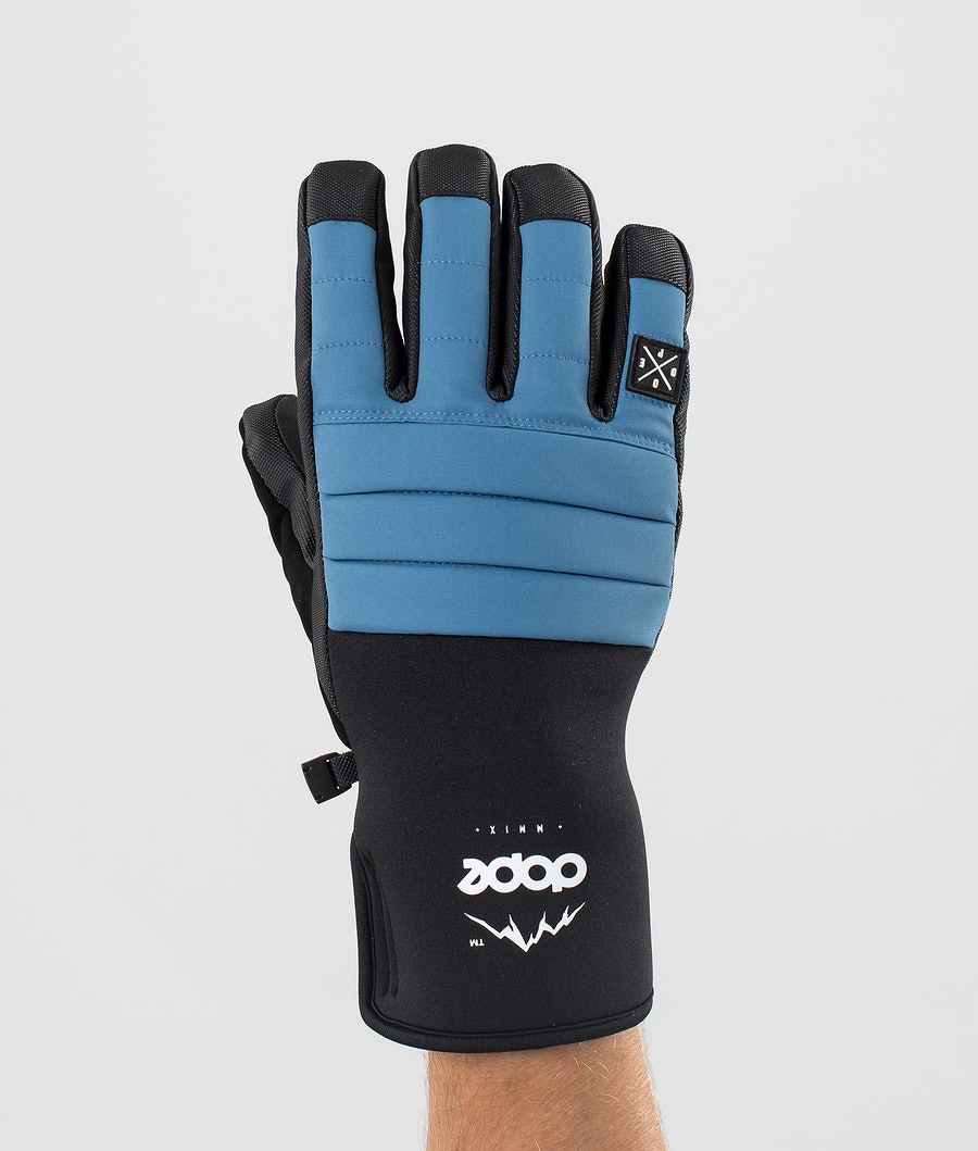 Dope Ace Glove Gants de Ski Blue Steel