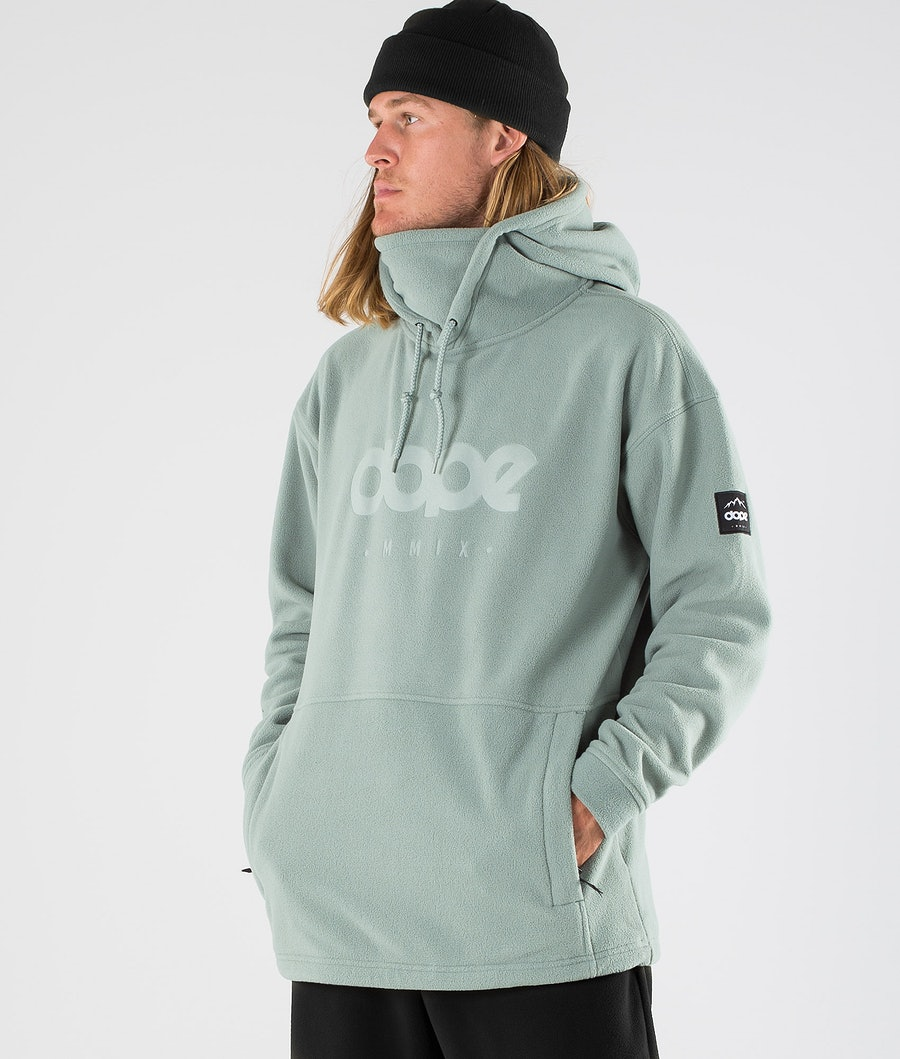 Dope Cozy II Fleece Hood Faded Green