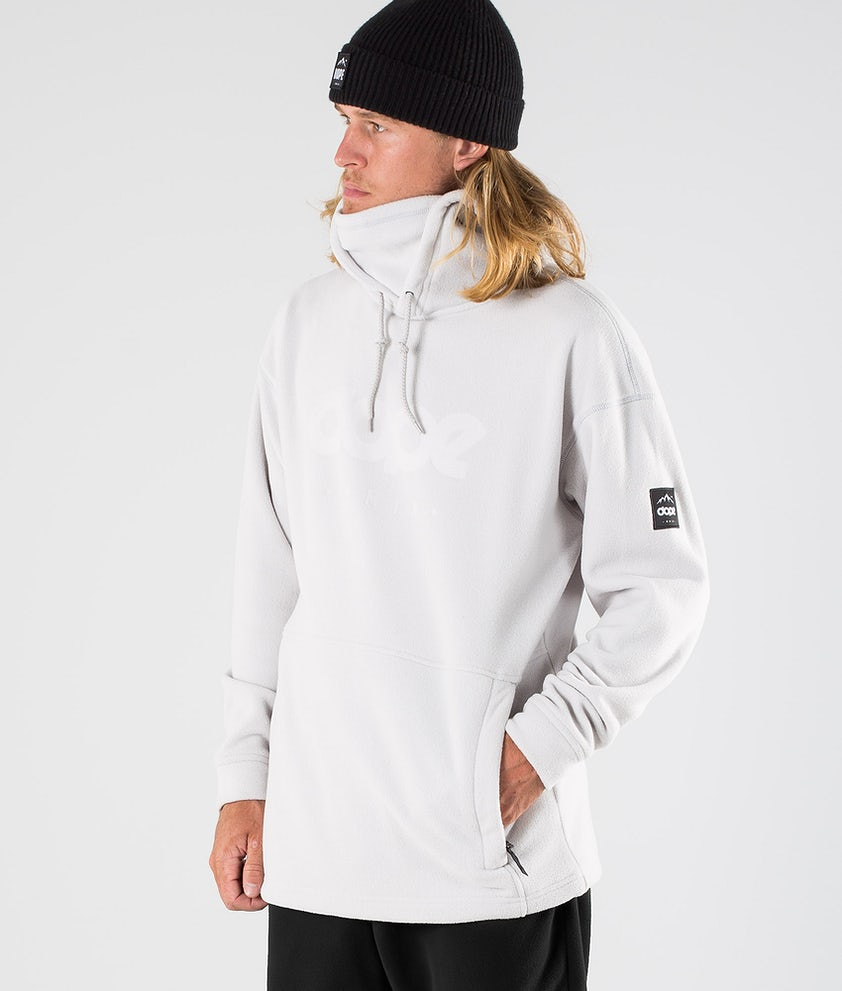 Dope Cozy II Fleece Hood Light Grey