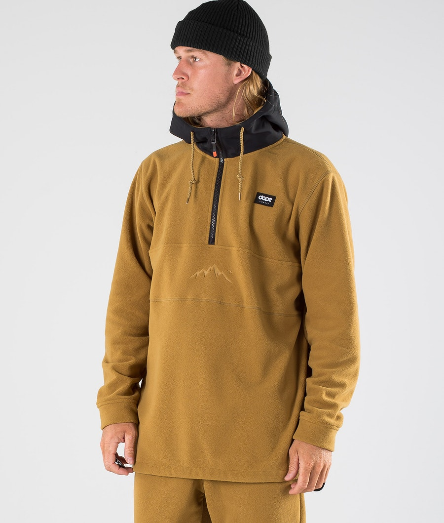 Dope Loyd PO Fleece Hood Black/Gold