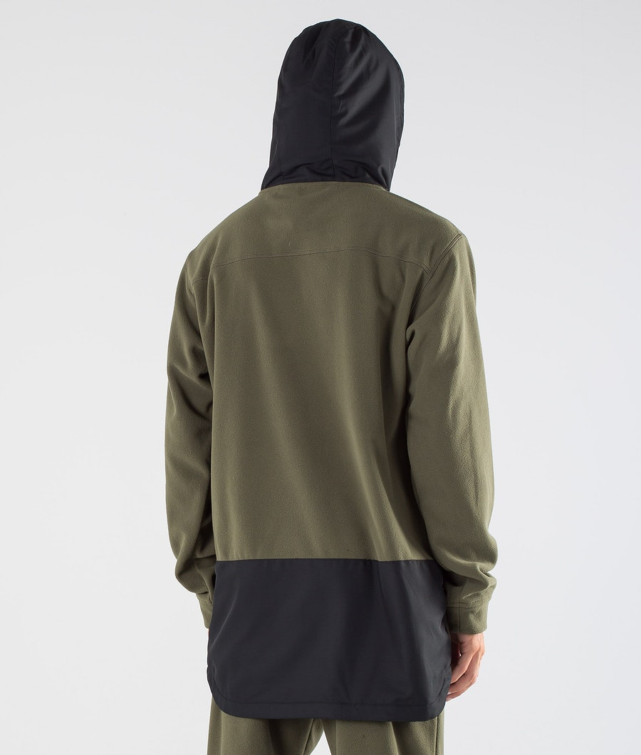 Dope Loyd PO Fleecehood Black/Olive Green
