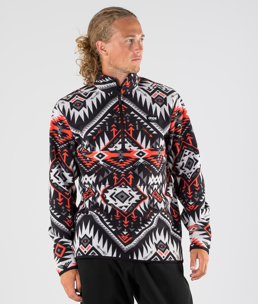 Dope Loyd Fleecepullover Arrow Red/Black