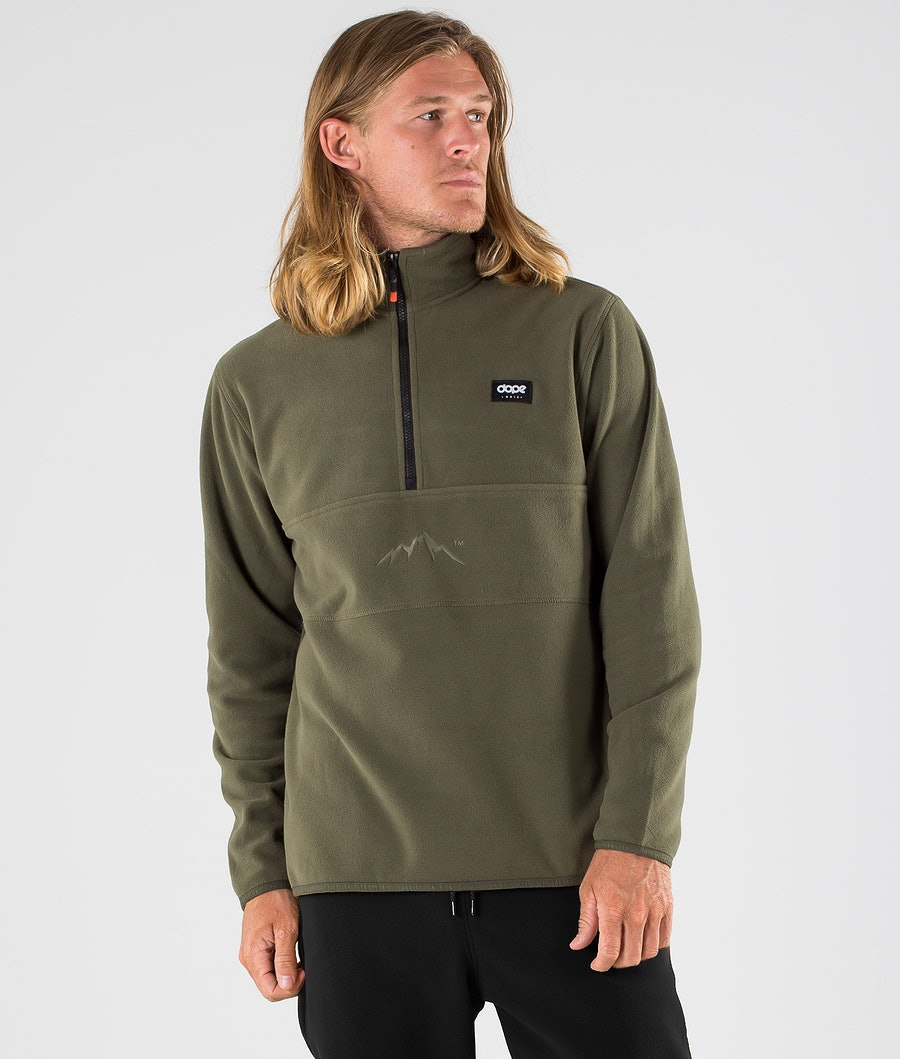 Dope Loyd Fleece Trui Olive Green