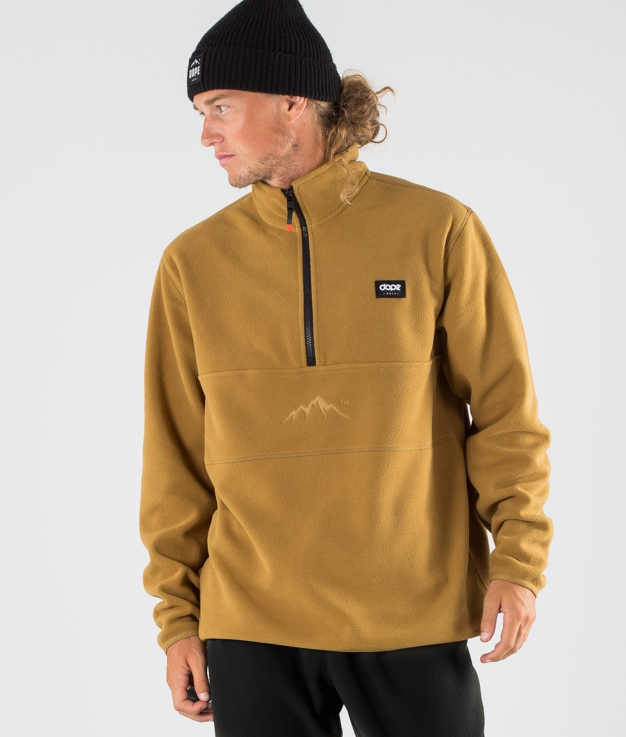 Dope Loyd Fleece Trui Gold