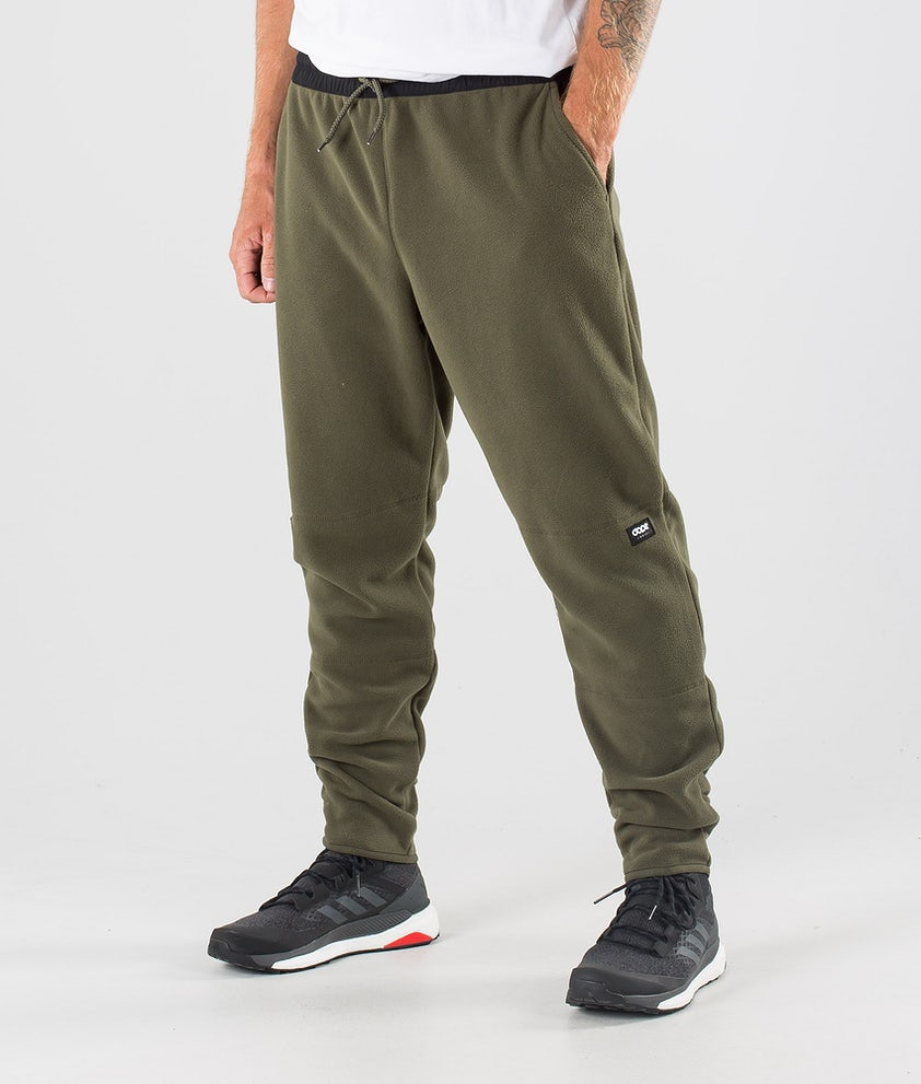 Dope Loyd Fleecebukse Black/Olive Green