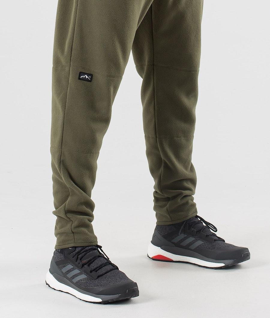 Dope Loyd Fleece Pants Black/Olive Green