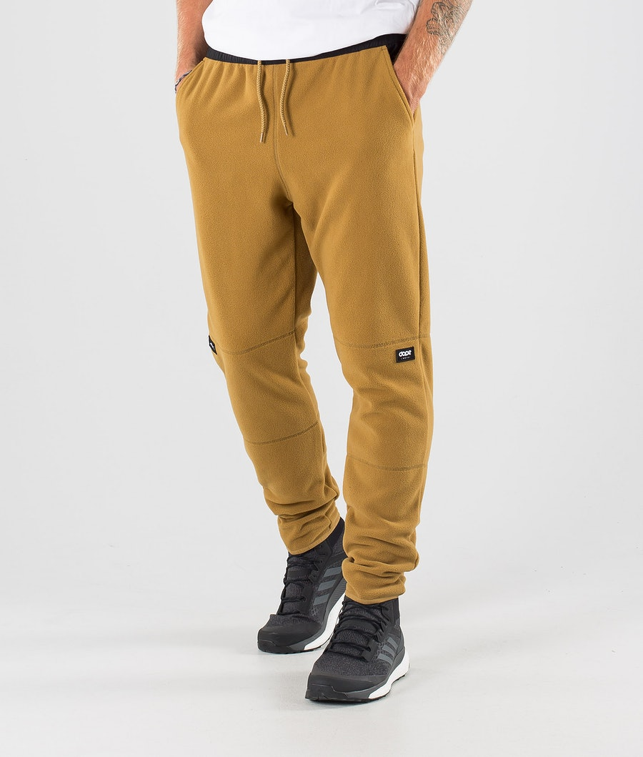 Dope Loyd Fleece Broek Black/Gold