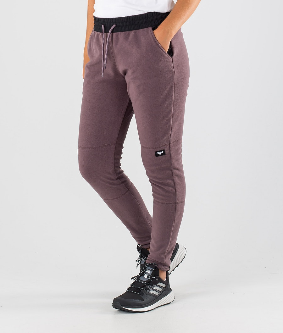 Dope Loyd W Pantalons Polaire Black/Faded Grape