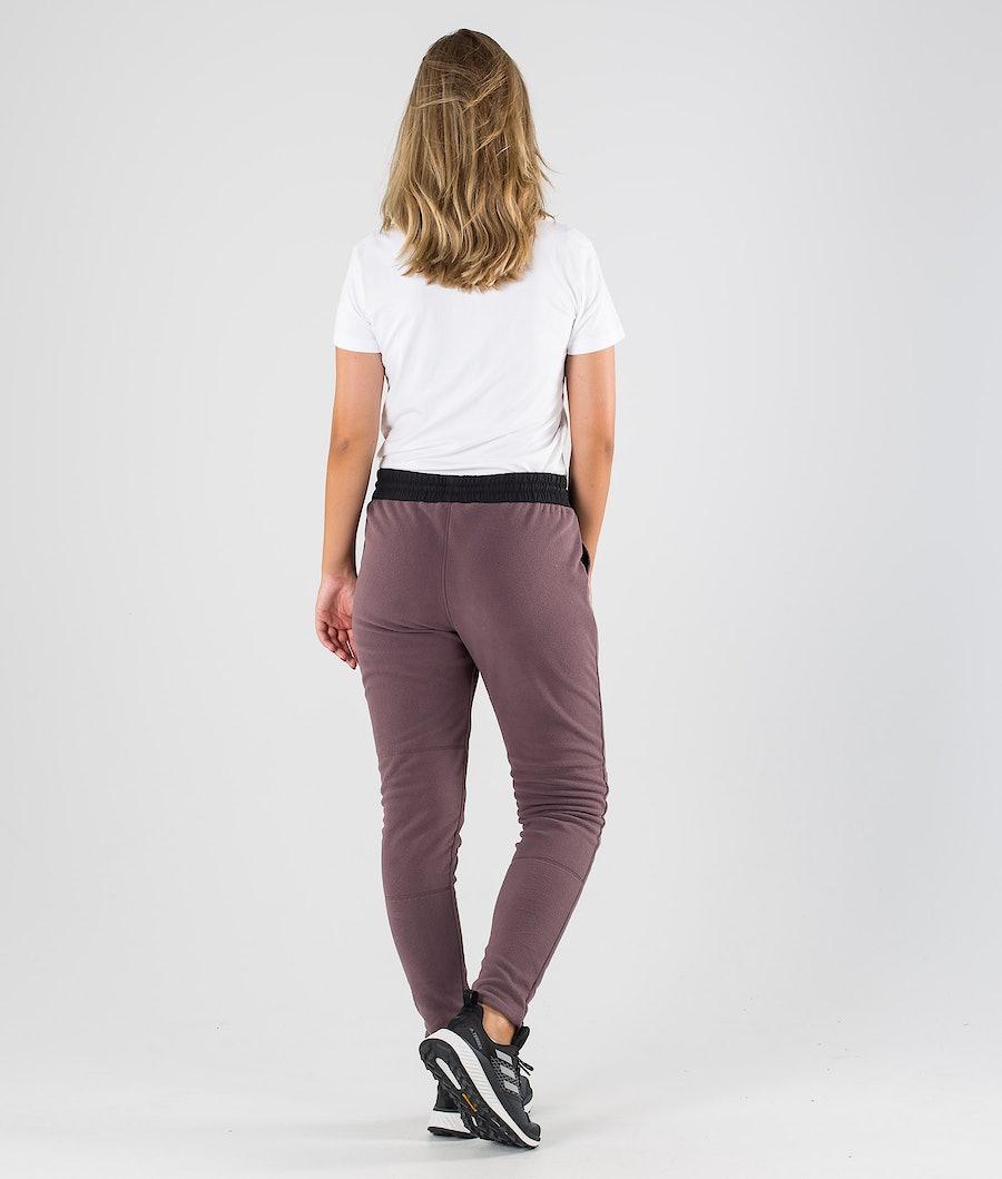 Dope Loyd W Women's Fleece Pants Black/Faded Grape